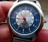Neue Edelstahl-Marken-Armbanduhr mit FLEXO-Armband, sehr gut ablesbar, top! - Diepholz