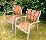Gartenstühle aus Holz/Aluminium - Bremen