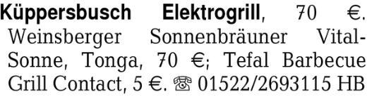 Küppersbusch Elektrogrill -
