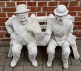 """Gartenfigur Stan Laurel & Oliver Hardy Dick und Doof"""" Betonguss - Emstek"""