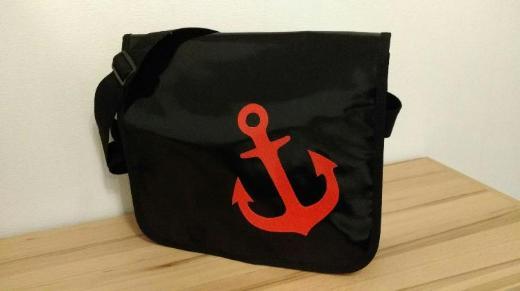 Tasche aus LKW Plane neu maritim Messengerbag