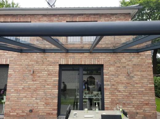 Alu-Terrassenüberdachung aus 44.4 gehärtetem Verbundglas !!!