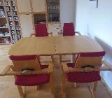 4 Actulumstühle von Stokke/Varier mit passendem Tisch - Stuhr