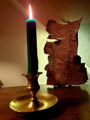 Antiker Messing-Kerzenhalter aus Familienbesitz - Worpswede