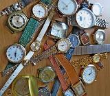 Konvolut verschiedener Armbanduhren, 1 Uhren-Flexo-Armband, ungeprüft - Evtl. für Bastler! ? - Diepholz