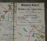 Wanderkarte von Bremen und Umgebung 1897 - Bremen Obervieland