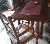 Esstisch mit 5 Stühlen und Sideboard - Stuhr