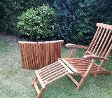 Echtholz Gartenliegen und Stuhl - Bremen
