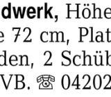 Werkbank/Handwerk, Höhe 8 -