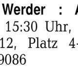 Eintrittskarte Werder : A -