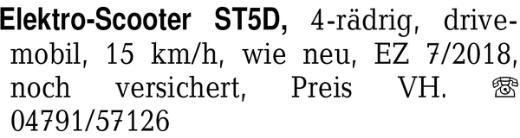 Elektro-Scooter ST5D, 4-r -