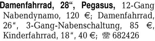 """Damenfahrrad, 28"""", Pegasu -"""