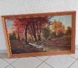 Bild Gemälde mit Holzrahmen - Weyhe