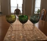 farbige Weinrömer, insgesamt. 6 - Ritterhude