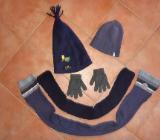 Paket: Mütze Schal Handschuhe für Jungen ca. Gr. 128 / 134 - Bremen