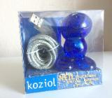 Design-Klassiker Koziol USB Kabelhalter Neil blau -NEU- - Bremen