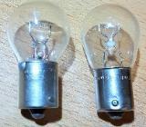 Glühlampen Ba15s 25 x 52,5 mm 24 Volt 18 Watt + Osram 12V P21W - Verden (Aller)