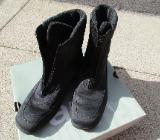 Schwarze gefütterte Stiefel Gr. 38 - Bremen