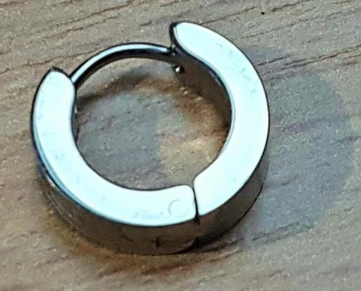 Edelstahl-Band-Ohrring mit Skorpion Muster 14 mm x 4 mm;Stift:1mm - Verden (Aller)