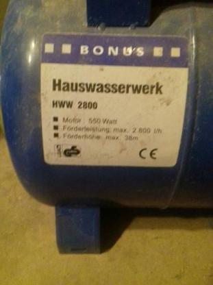 Druckbehälter Hauswasserwerk Wasser Garten Druck - Grasberg