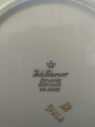 Tortenplatte - Kuchenteller von ZEH SCHERZER Bavaria US Zone floral Design - Bremerhaven