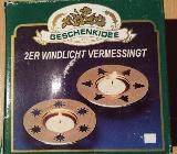 """2 x Stück Teelichthalter Messing mit Weihnachtsmotiv """" Neu """" - Verden (Aller)"""
