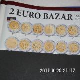 3 Stück 2 Euro Münzen aus drei Ländern Zirkuliert 32