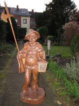 """Bayrische Holzschnitzkunst; qualitätsvolle, gediegene """"Nachtwächter""""-Figur"""