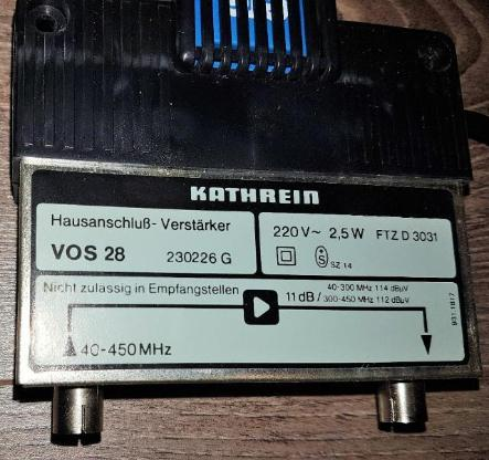 Kathrein Hausanschluß Verstärker VOS 28 / 230226 G für Kabel-TV - Verden (Aller)