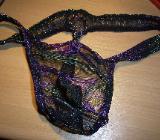 sexy String-regenbogenfarben-Nylon-transparent-Gr.M-L-neu - Syke