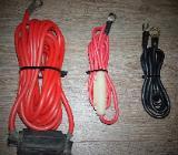 4 x Stück Batteriekabel 10qmm inkl AGU Sicherungshalter Endstufe Kabelkit - Verden (Aller)