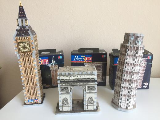 MB Spiele - 3D Puzzle der berühmten Bauwerke