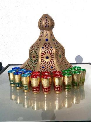 Orientalische bzw. Marokkanische Teegläser, 6er-Set, Blau - Schwanewede