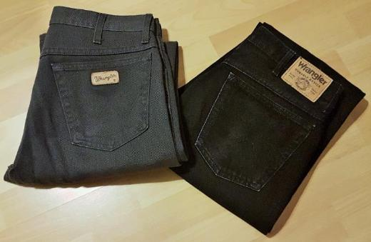 2 x Stück Wrangler Durable Basics Heavy Duty schwarze Jeans + Texas Stretch Graze graue Jeans - Verden (Aller)