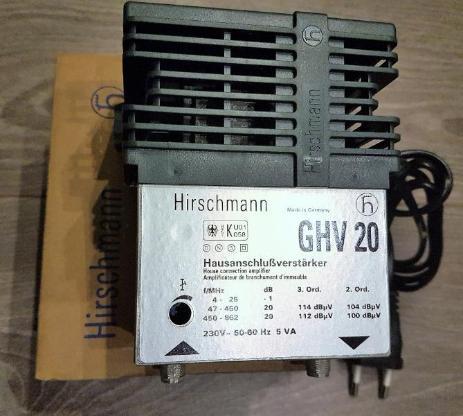 Hirschmann Hausanschlussverstärker GHV 20 für Kabelfernsehen 20db - Verden (Aller)