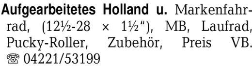 Aufgearbeitetes Holland u -