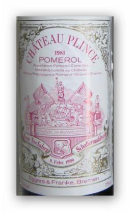 1981 Chateau Plince, Pomerol, Schafferwein - Bremen