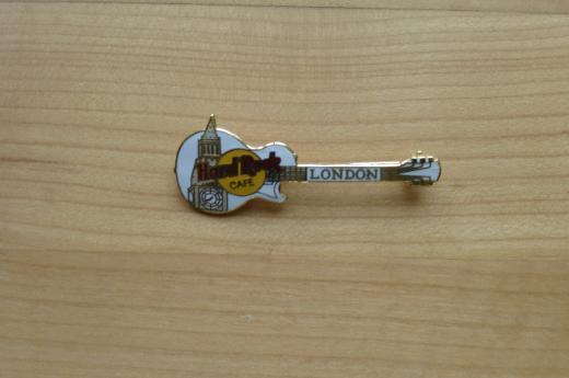 Hard Rock Cafe London Big Ben on White Guitar Anstecknadel - Weyhe