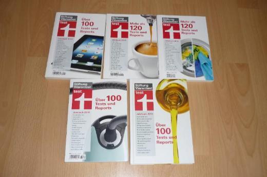Stiftung Warentest Bücher, 2010, 2011, 2013, 2014, 2015