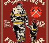 Schönes Blechschild Die besten Papas sind bei der Feuerwehr - Alu - gestanzt -17x22 cm - Scheeßel