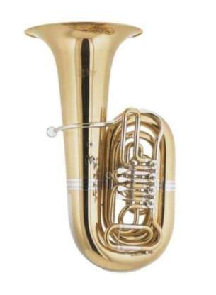 Cerveny Kaiser - Tuba in B, Mod. CBB 691-4 inkl. Rollenkoffer, Neuware