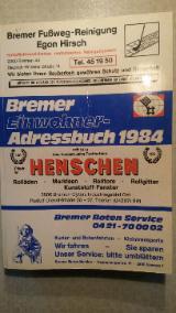 Bremer Einwohner Adressbuch 1984