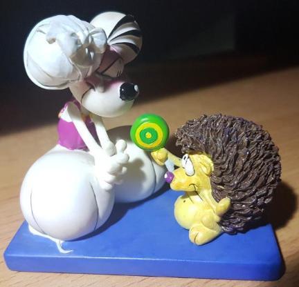 """Diddl - """" Maus mit Igel """" Sammelfigur Groß 8 x 8 cm * Rarität * - Verden (Aller)"""