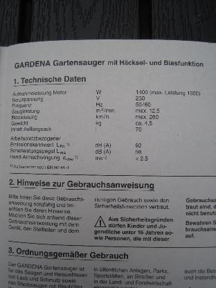 Laubbläser Gardena - Bremen Vegesack
