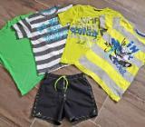 Kleidungspaket Sommer 6 Teile: T-Shirts Shorts Top Gr. 134 / 140 - Bremen