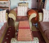 Cautsch mit tisch und Sessel und 2 sitzer - Zeven