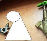 2 x Stück Messing Schrägsitzventil m.Entleerung beiderseits Innengewinde - Verden (Aller)
