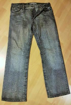 Graue Stone Washed Straight Tapered Fit Herren Jeans Gr. 36/34 - Verden (Aller)