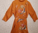 """gelboranges Kleid im """"Asia-Look"""" (von """"GLAMOROUS"""") mit Stickerei - NEU! - Hambergen"""