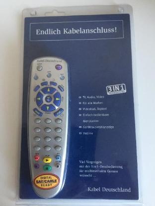 Universal Fernbedienung 3 in 1 Kabel Deutschland - Bremen